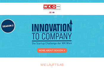 Screenshot der innovation2company Webseite