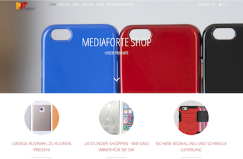 Screenshot vom MediaForte Webshop